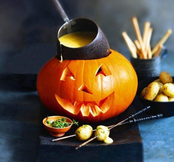 Светильник Джека из тыквы на Хэллоуин
