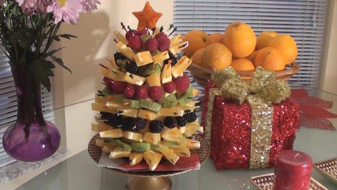 Съедобный декор новогоднего стола
