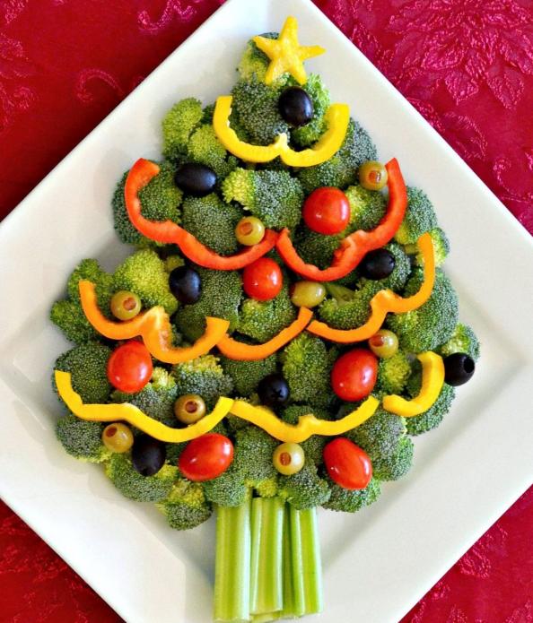 Украшение на Новый год из овощей