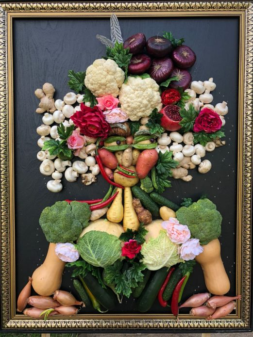 Портрет из фруктов и овощей