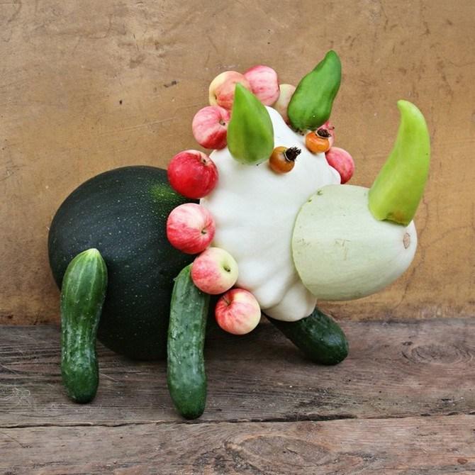 Самоделка из овощей и фруктов