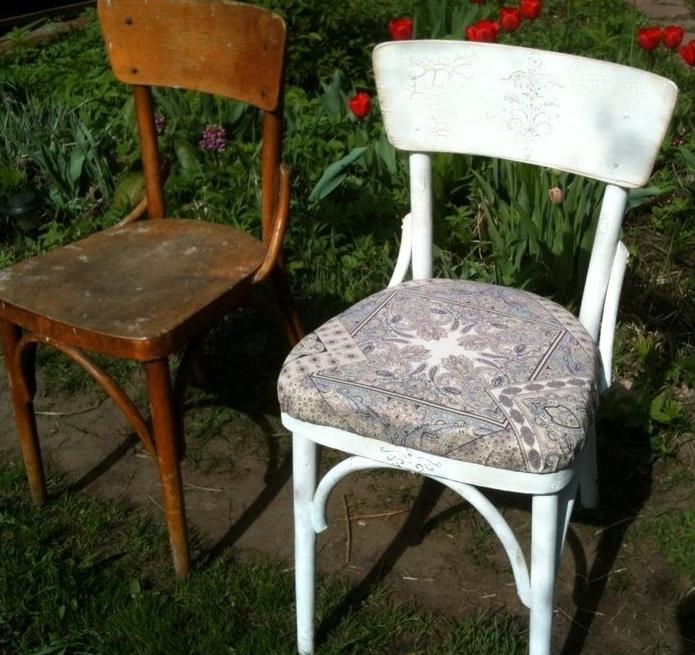 Отреставрированный старый стул
