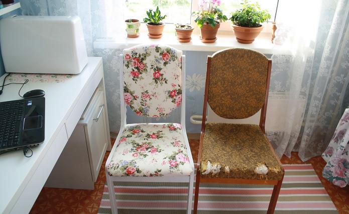 Обновление старого стула