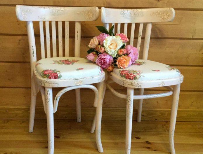 Обновление старинных венских стульев