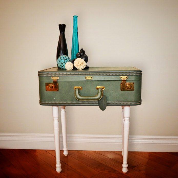 Столик из старого чемодана своими руками