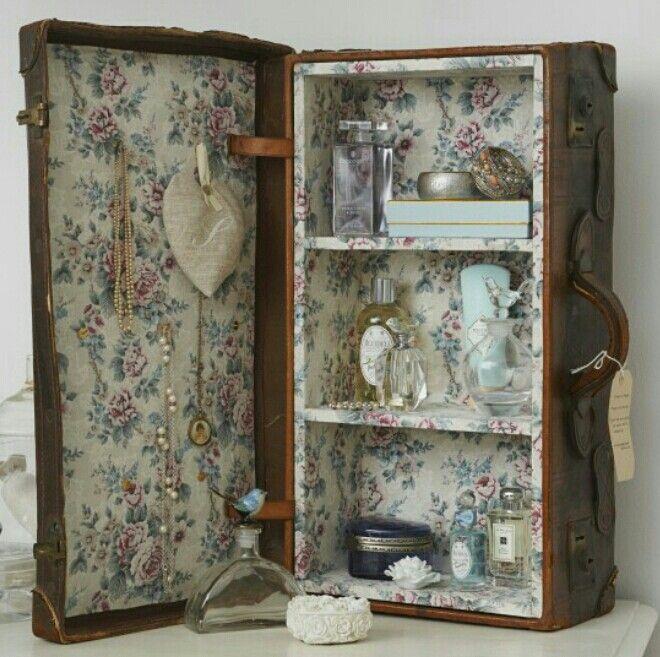 Колоритный органайзер из старого чемодана