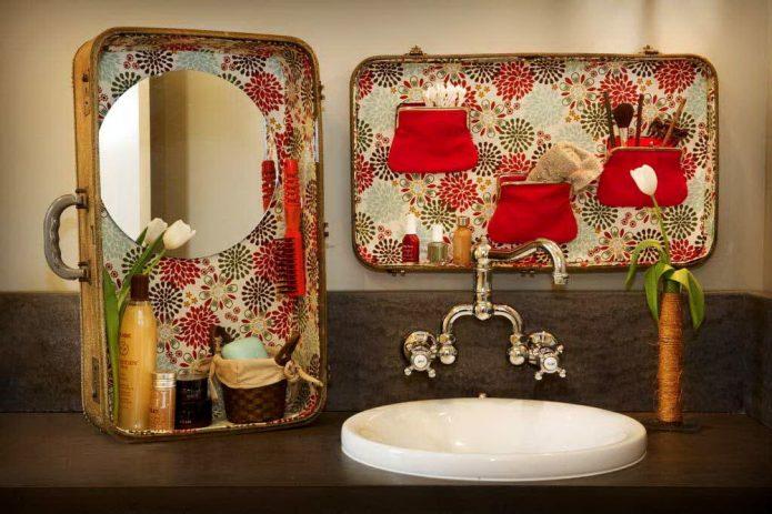Самодельный органайзер в ванной комнате