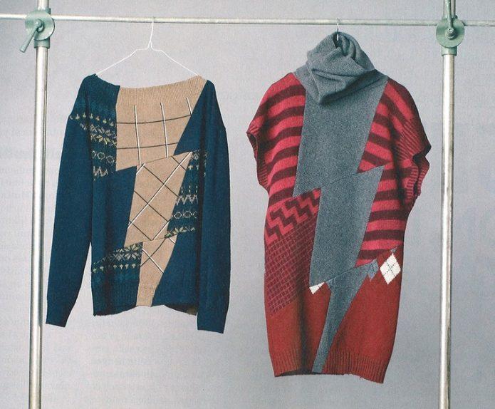 Новые модели из старых свитеров