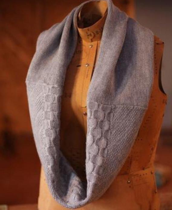 Шарф-хомут из старого свитера