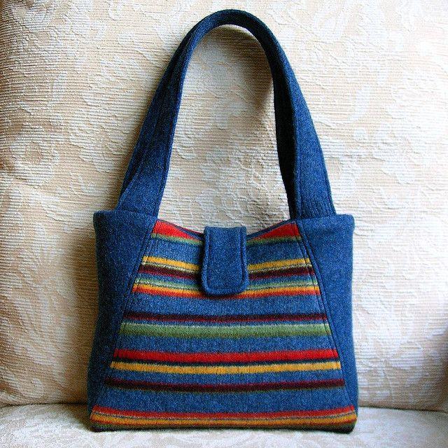 Элегантная сумка из старого свитера