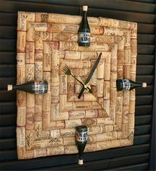 Оправа часов из винных пробок