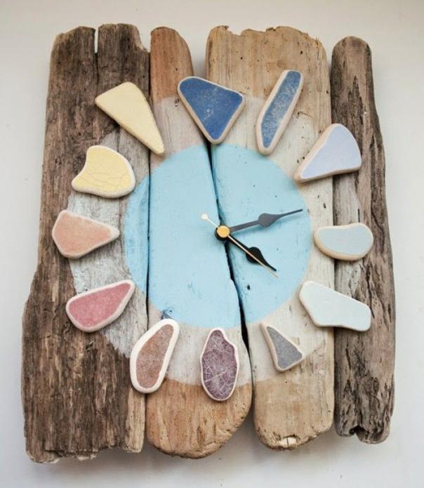 Часы из природного материала