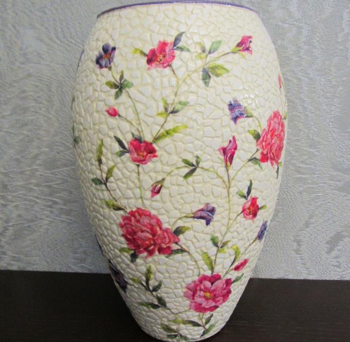 Декор вазы скорлупой