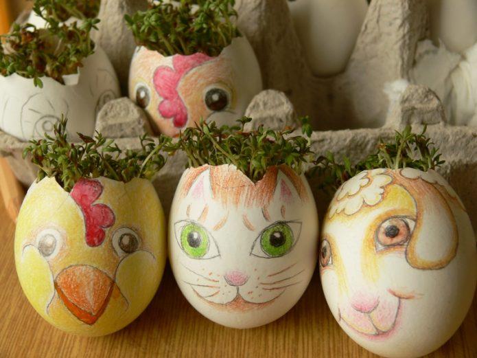 Детская роспись яичных скорлупок