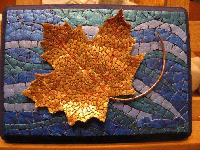 Мозаичное панно из яичной скорлупы