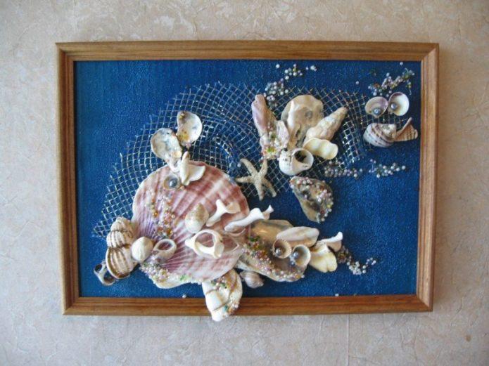 Панно из ракушек в морском стиле
