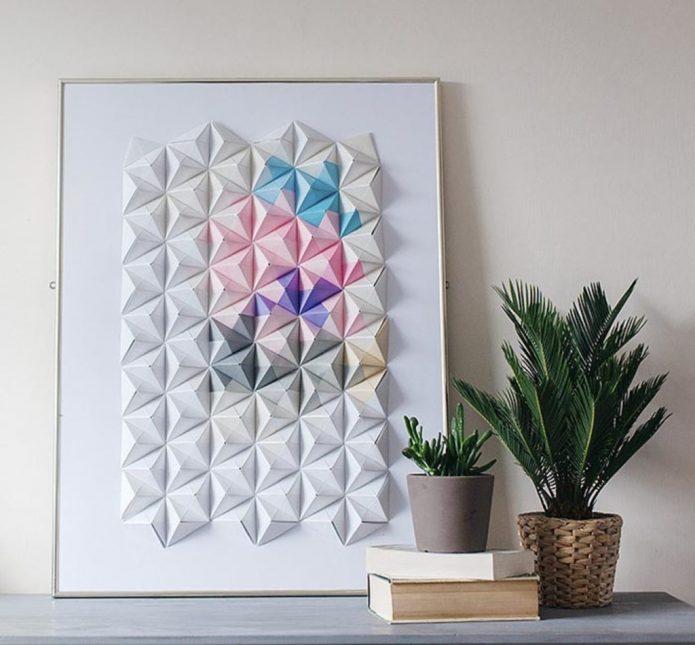 Панно из бумаги в технике оригами