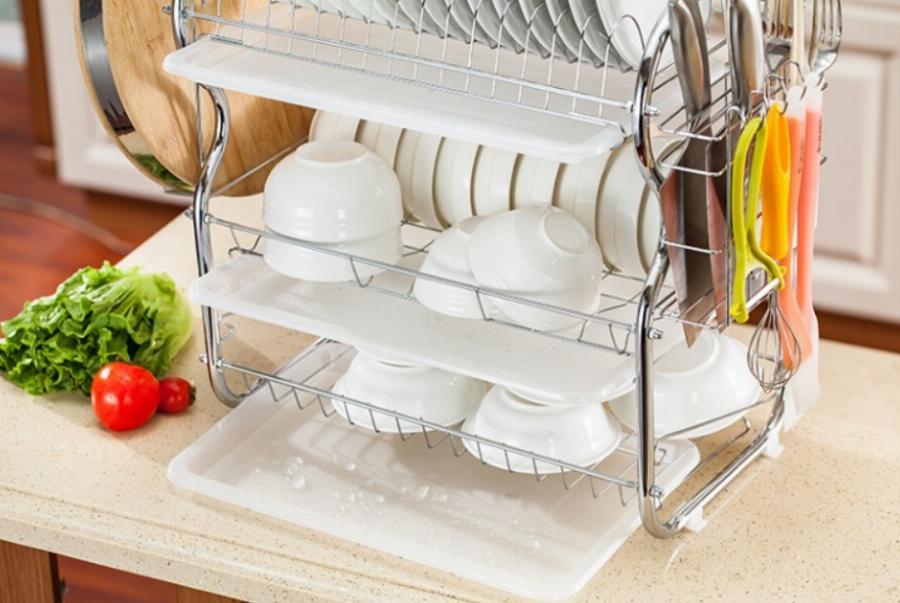 Знаю легкий способ отмыть сушилку для посуды от налета и ржавчины